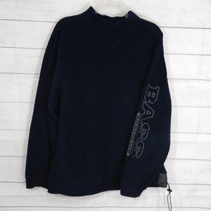 G.H. Bass and Co. high neck blue sweater M